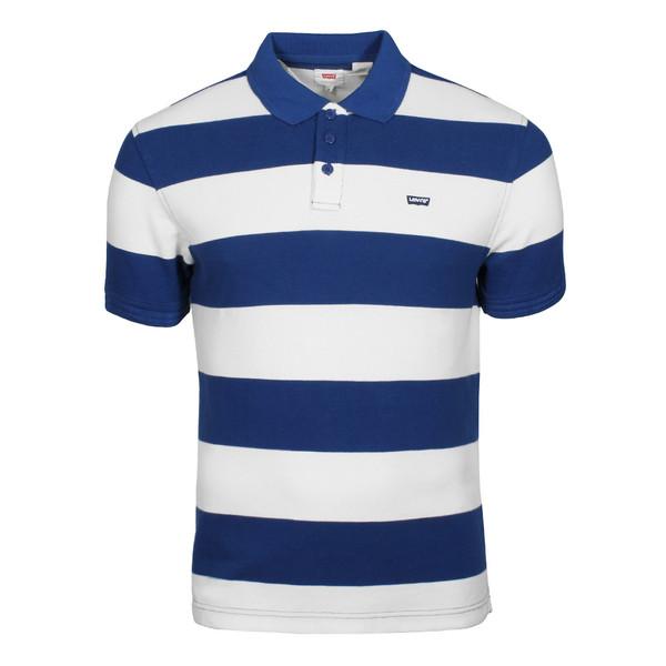 Levi's Herren Poloshirt Housemark Polo Rugby Galaxy Blue (weiß blau)