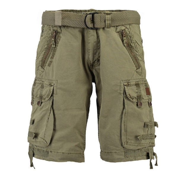 Geographical Norway Herren Cargo Shorts kurze Hose Pelegrino Men Basic Mastic (grün)