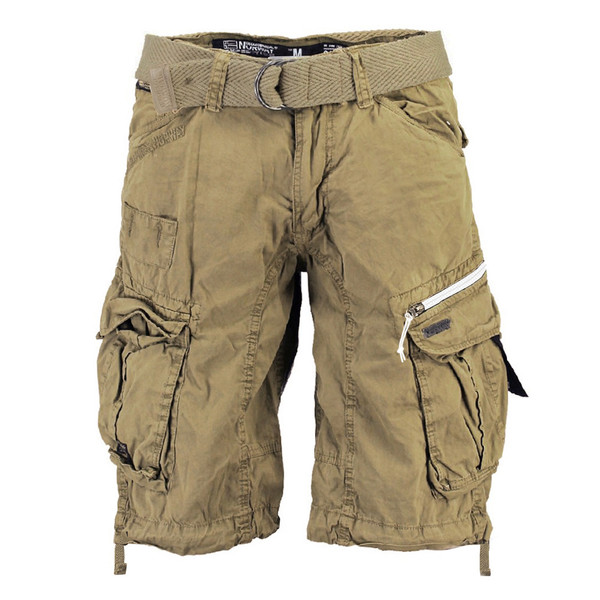 Geographical Norway Herren Cargo Shorts kurze Hose Palium Men Basic Beige