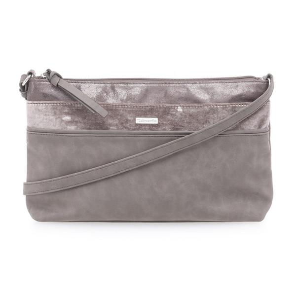 Tamaris Damen Handtasche Khema Crossbody Bag S Metallic Pu Mauve (grau)