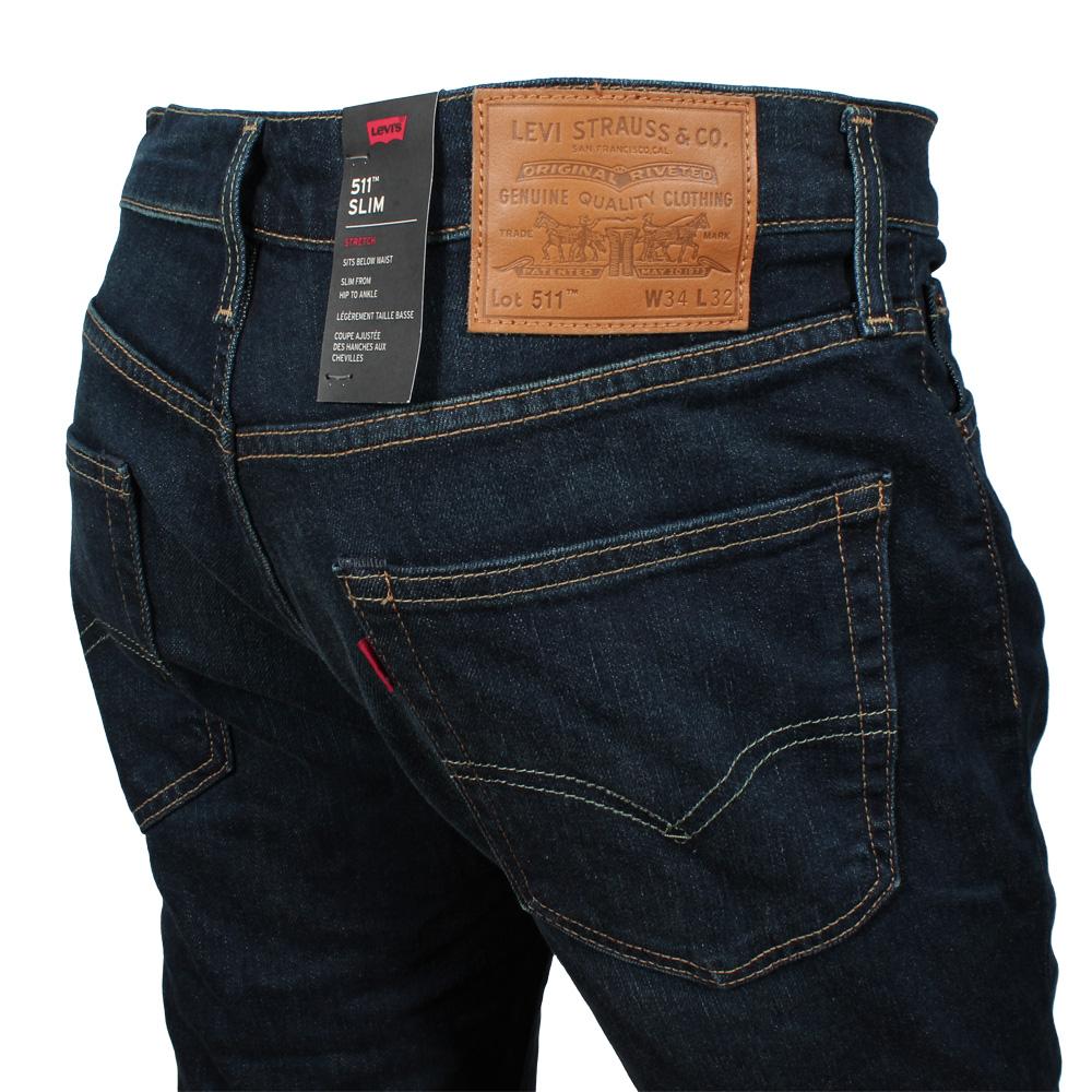 großer Lagerverkauf modernes Design verschiedenes Design Details zu Levi's Herren Jeans 511 Slim Fit Hose Stretch Männer Biology  (dunkel blau)