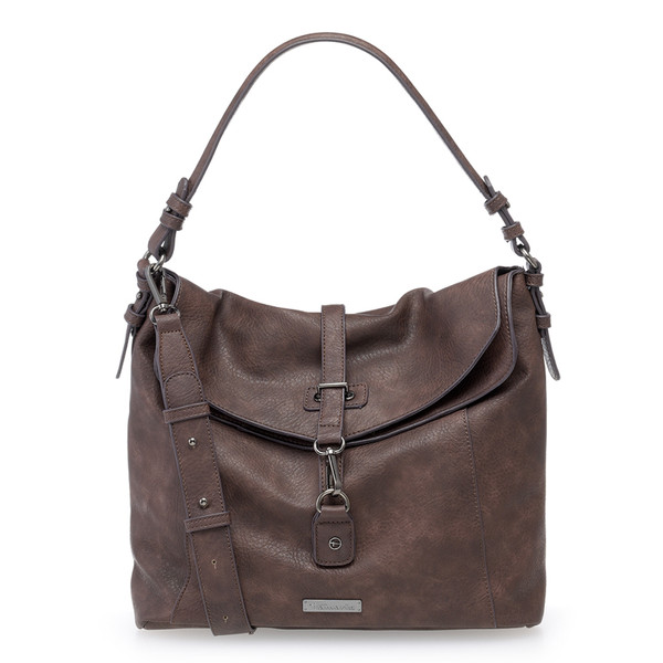 Tamaris Damen Schultertasche Bernadette Hobo Bag dark brown (braun)