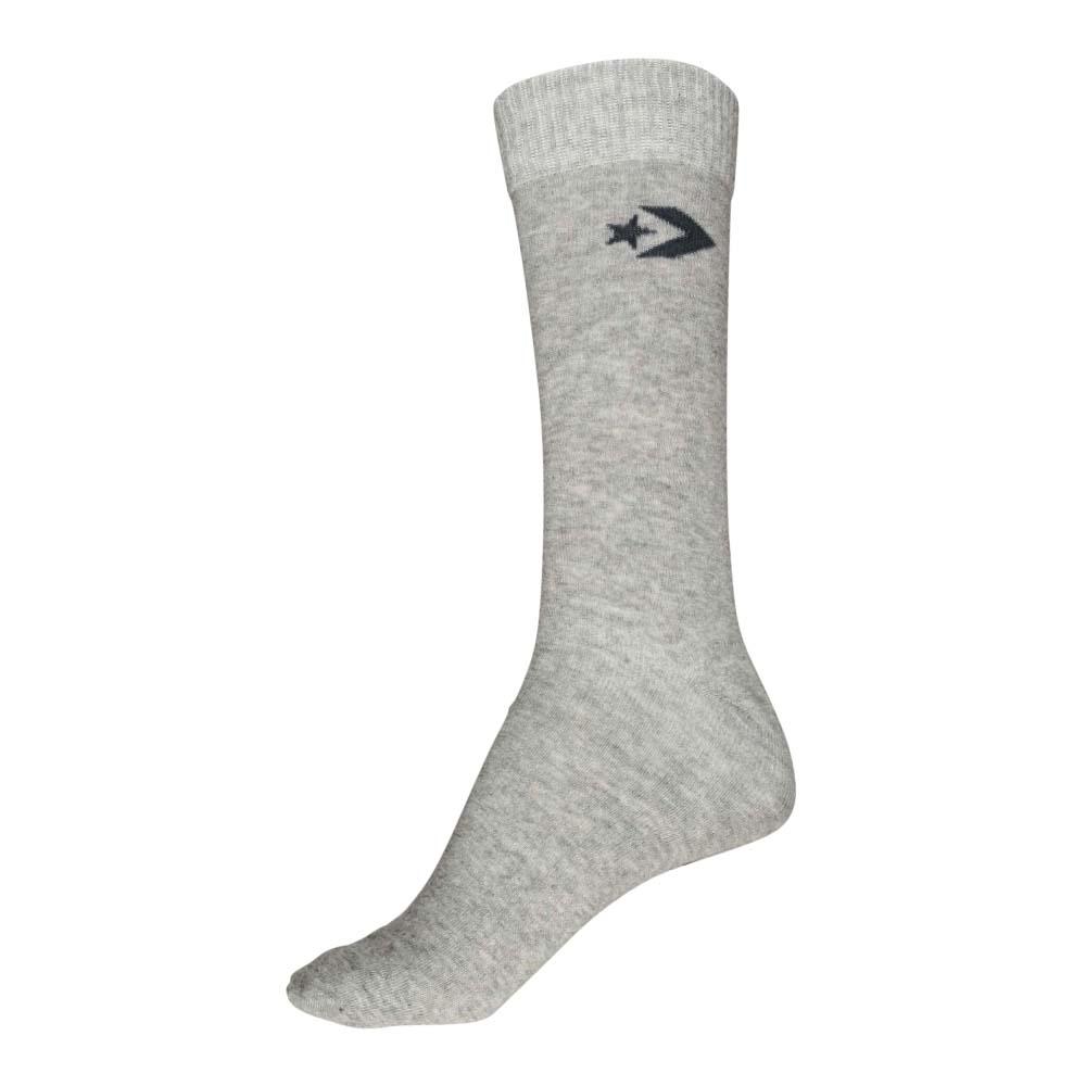 Converse Herren Socken 3 er Pack Basic Crew schwarz grau asphalt