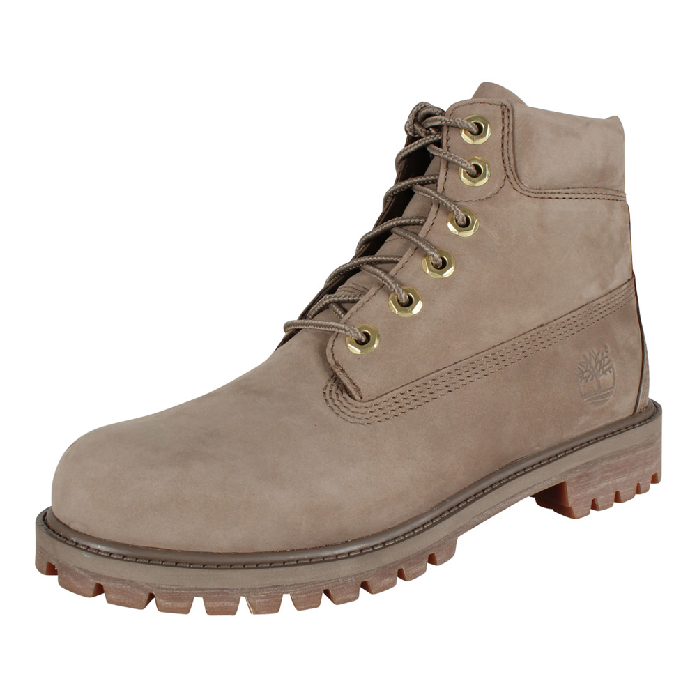 competitive price f9651 2b287 Timberland Damen Stiefel 6-Inch Premium Waterproof Boot Nubuk Dark Beige |  Modefreund Shop