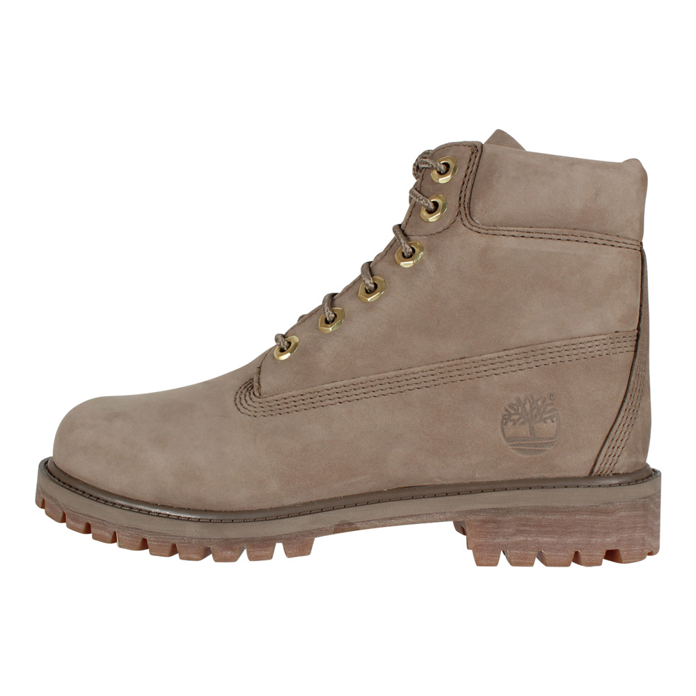buy popular b6363 1c3b3 Timberland Damen Stiefel 6-Inch Premium Waterproof Boot Nubuk Dark Beige