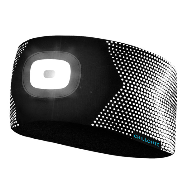 Chillouts Unisex LED Stirnband ChillLight Headband Reflective Dots (schwarz)