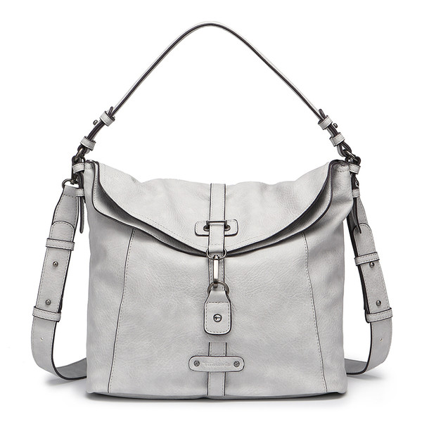 f7790283c2af1 Tamaris Damen Handtasche Bernadette Hobo Bag light grey (grau)