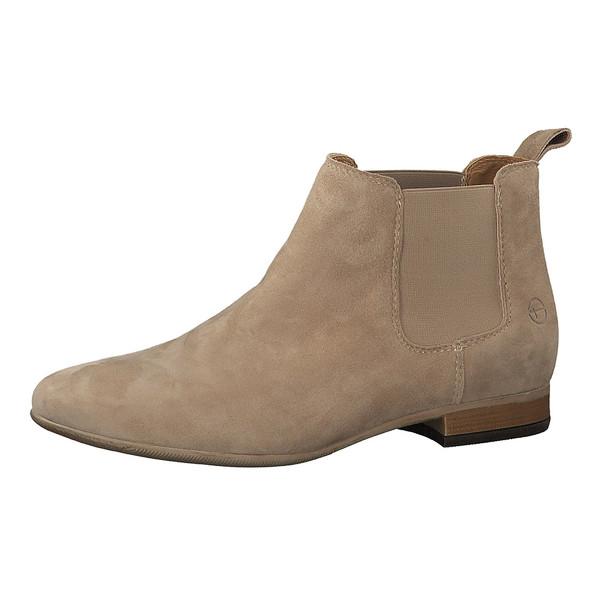 Tamaris Damen Stiefeletten Chealsea 25344 Leder Boots Stone (grau)