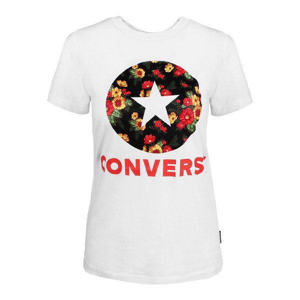Converse Damen T-Shirt In Bloom Optical white (weiß)
