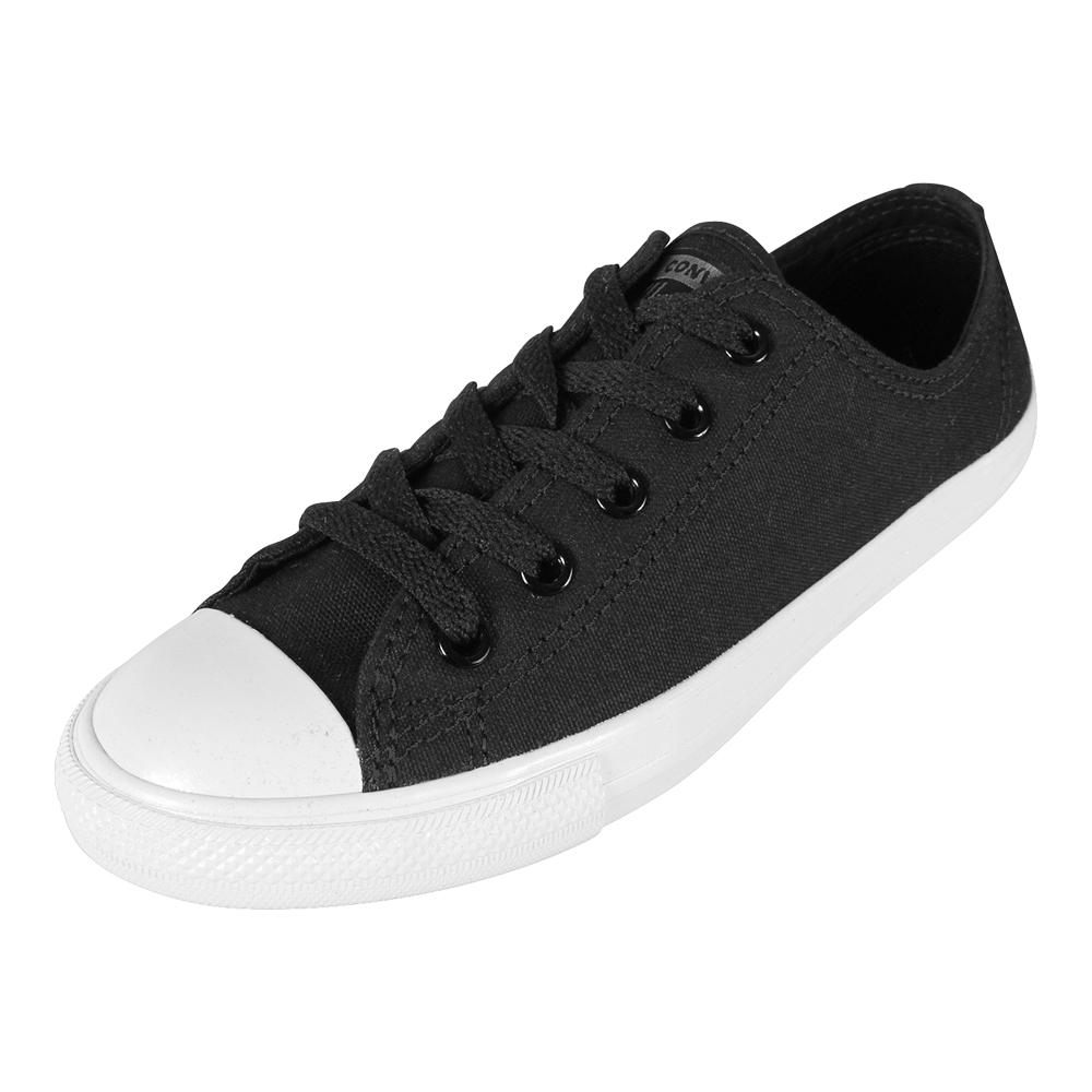 Mode Converse All Star Dainty Canvas Mid W Schwarz Sneaker