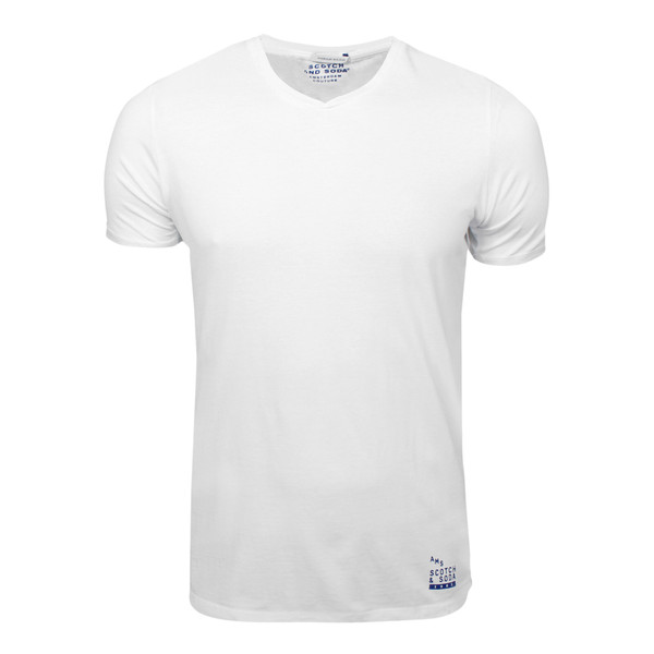 Scotch & Soda Herren T-Shirt Classic Classic V-Neck weiß