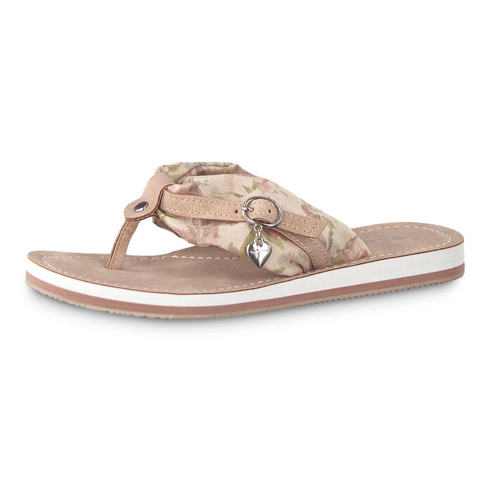 Details about Tamaris Ladies Mules Avril Slippers Sandals Dune Comb (Beige Pink)