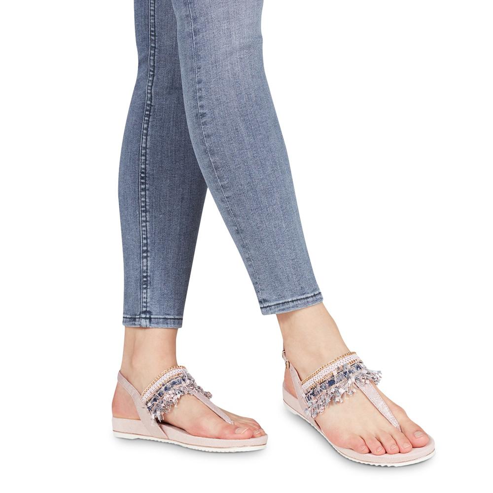 T Locust Tamaris Franges Femmes Bar Sandales Chaussures Boho