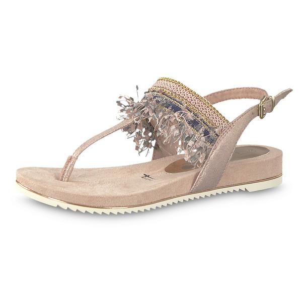 Tamaris Damen Sandale Locust rose metallic (beige rosa)
