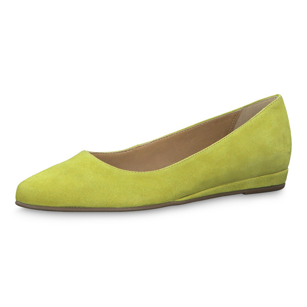 Tamaris Damen Ballerina 22150 Apple (lime grün)