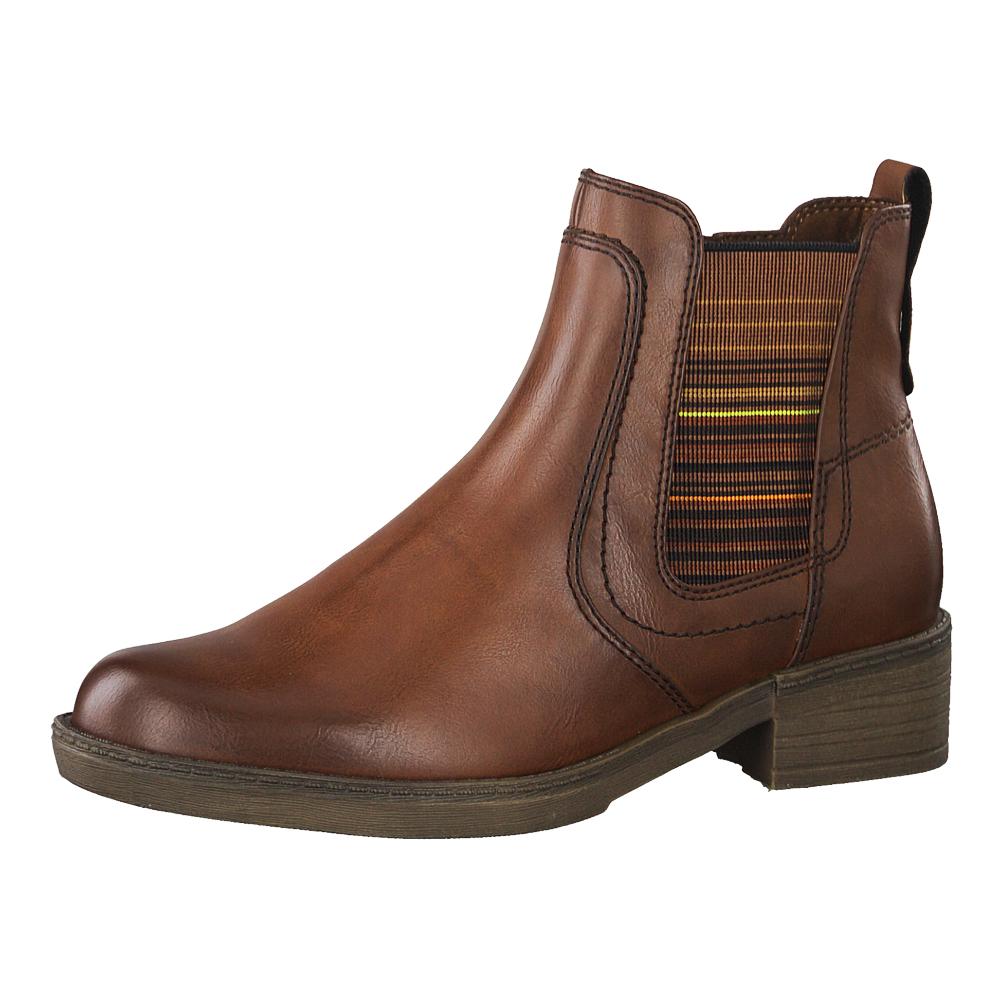 Tamaris Damen Stiefeletten 25012 Chealsea Boots Cognac (braun)