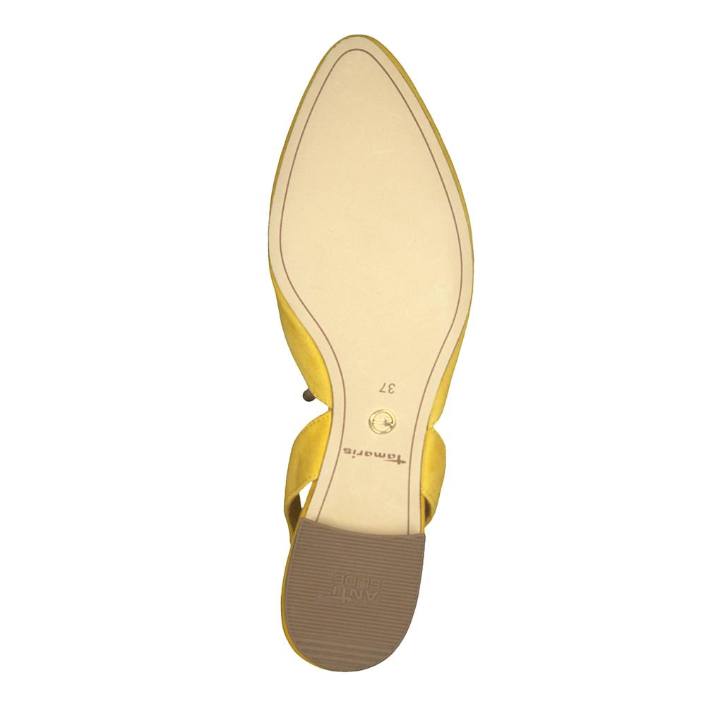 Tamaris Damen Slingpumps Leder Schuhe Malou gelb