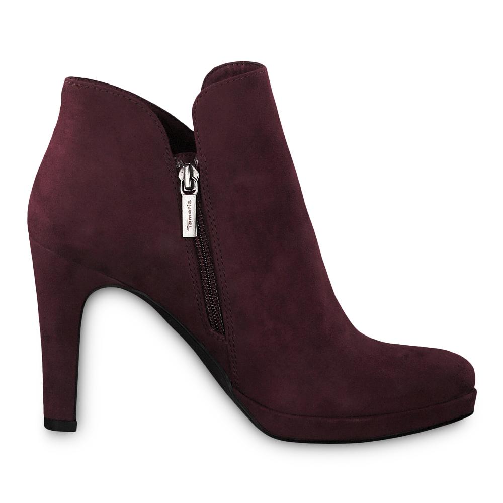 Tamaris Damen Stiefeletten Schuhe 25316 Boots Vine (weinrot)