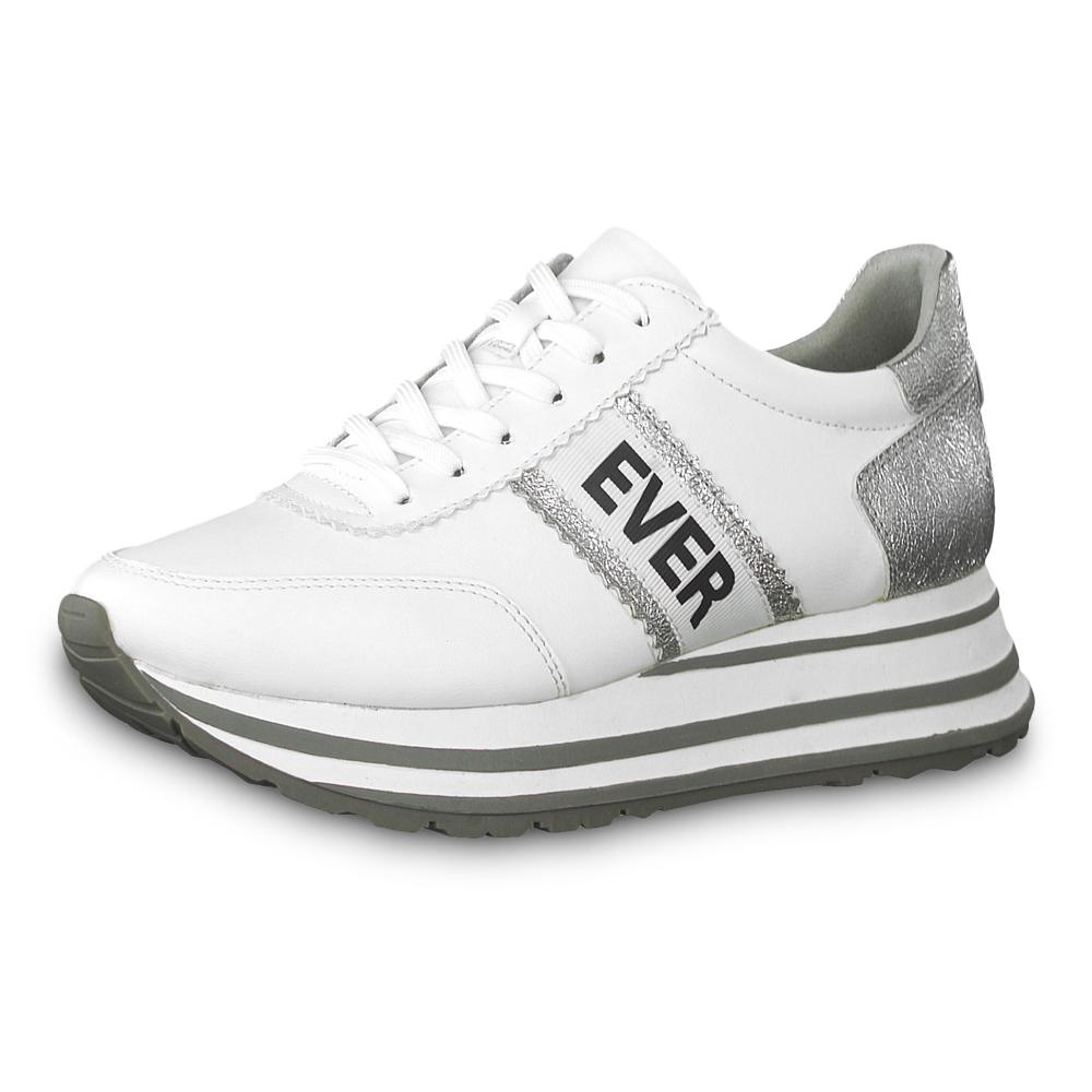 23737 Maria SilverweißModefreund Damen Plateau Shop White Tamaris Sneaker 92IEDHeWYb