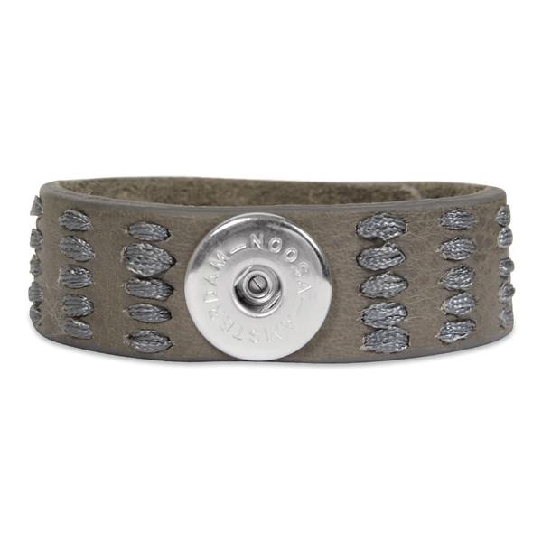 Noosa Unisex Armband ohne Chunk Indigo Love Life grau