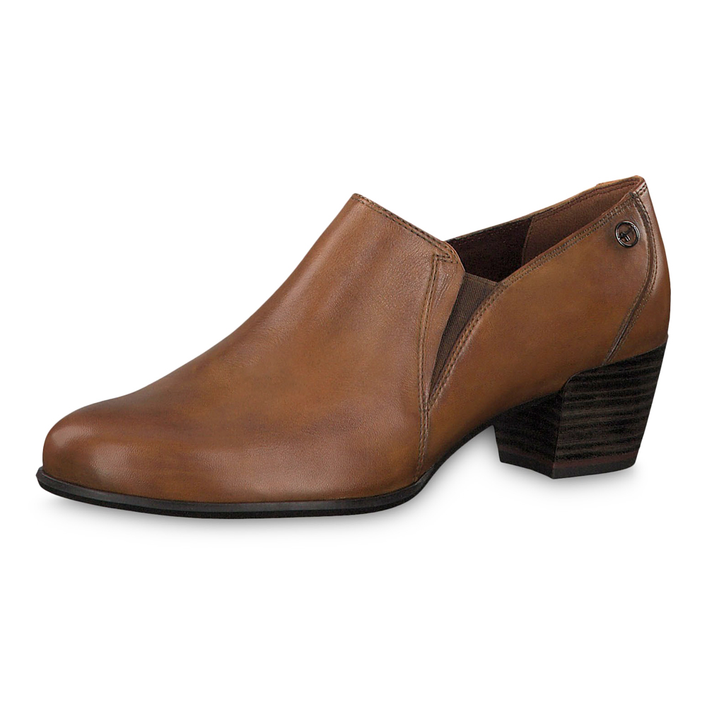 Details zu Tamaris Damen Stiefeletten Oceana Leder Pumps Schuhe Cognac (braun)