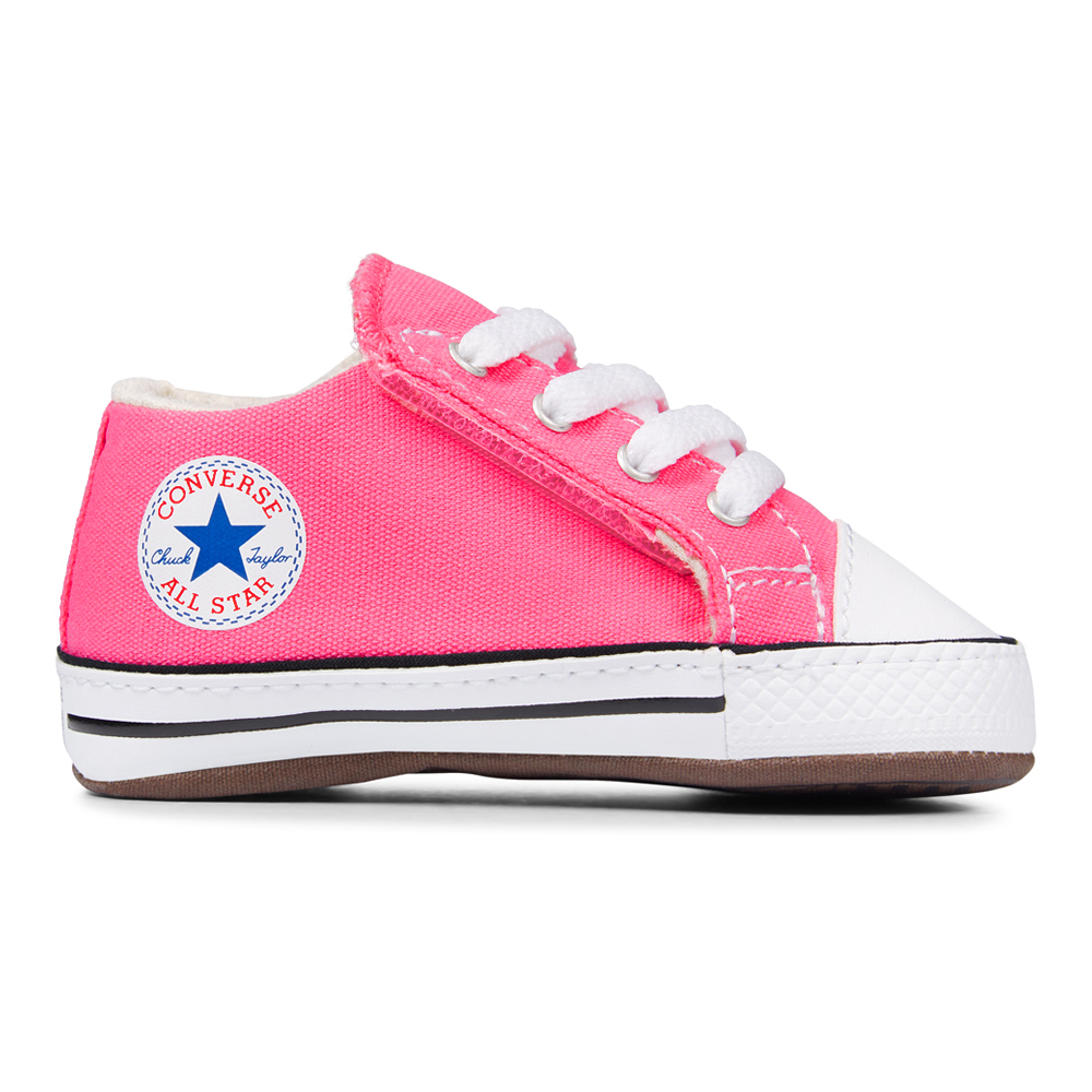 Details about Converse Baby Chuck Baby Shoes Cribster mid 865158C Touch Fastener Gift Box Pink