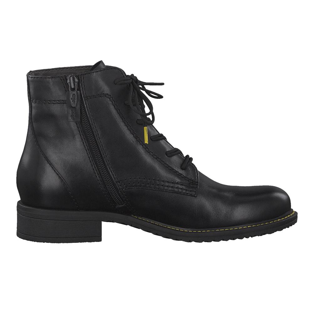 Details zu Tamaris Damen Stiefel 25210 23 RV Boot Leder Winter Schuhe warmes Futter schwarz