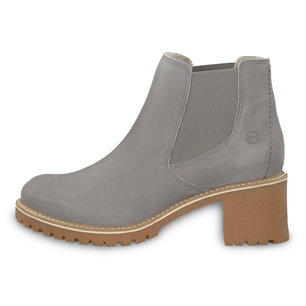 Tamaris Damen Stiefeletten Irina Chealsea 25447 Leder Boots Light grey (grau)