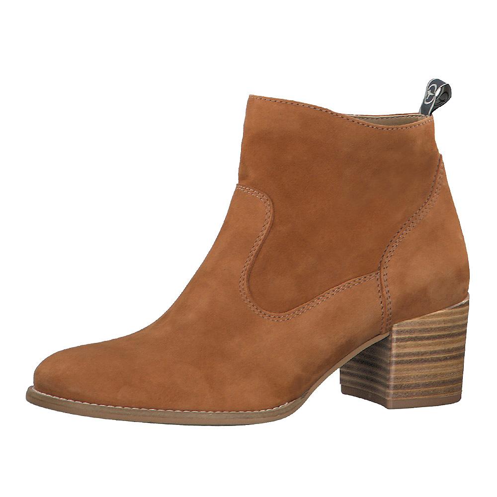 Tamaris Damen Stiefeletten Chelsea 25350 Leder Boot Cuoio (Cognac)   Modefreund Shop