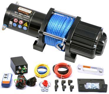 Power Series® 12V Seilwinde 5000 EXTREME (2268kg) - Kunststoffseil + Funk – Bild 1