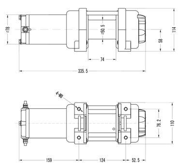 Power Series® 12V Seilwinde 3000 ADVANCE (1360kg) - Kunststoffseil + Funk – Bild 6