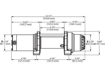 WARN Seilwinde 4000-S Vantage mit Kabelfernbedienung (1814kg, Kunststoffseil) – Bild 9