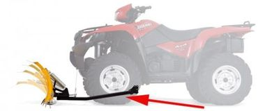 WARN ProVantage Schneeschild 137cm CENTER Yamaha BIG BEAR 400 4x4 – Bild 9