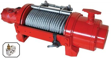 WARRIOR Industrie Seilwinde hydraulisch C15000NW 6,8 t 15000lb EN 14492:1 – Bild 2