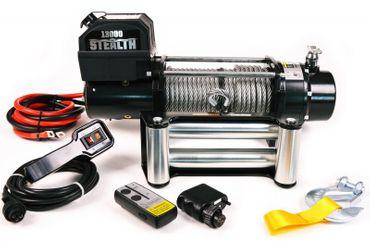 Elektrische Anhänger Offroad Seilwinde Black Motion® Stealth 13000LB 5,9 t 12 V – Bild 3