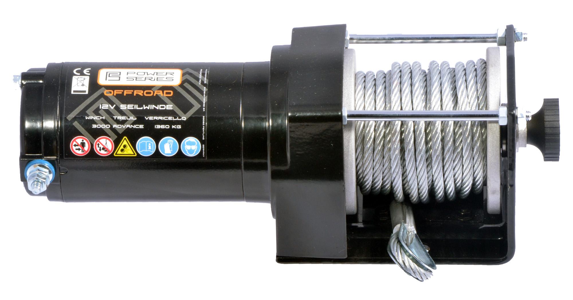 Power Series® 12 V Elektrische Seilwinde Motorwinde 2268 kg Elektrowinde Seilzug