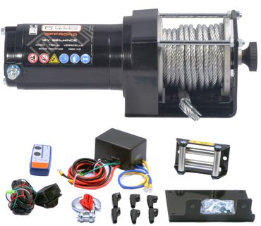Power Series® 12V Seilwinde 3000 ECO (1360kg) + Funkfernbedienung – Bild 1
