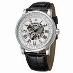 Forsining Herren Automatik Skelett Armbanduhr, transparent, Kristallglas, Lederarmband FSG8051M3S14