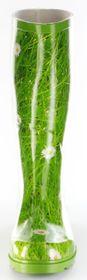 Conway Gummistiefel grün Regenstiefel Damen Stiefel Schuhe Gänseblümchen – Bild 8