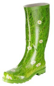 Conway Gummistiefel grün Regenstiefel Damen Stiefel Schuhe Gänseblümchen – Bild 1