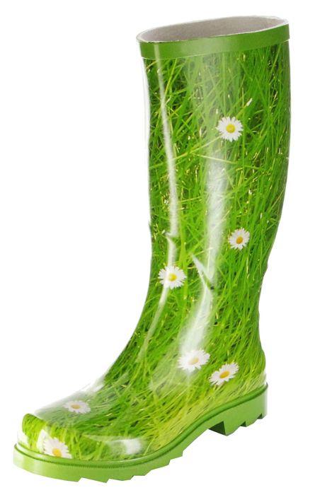 Conway Gummistiefel grün Regenstiefel Damen Stiefel Schuhe Gänseblümchen