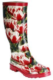 Conway Gummistiefel rot Regenstiefel Damen Stiefel Schuhe Tulpe – Bild 1