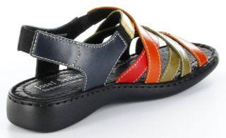 Josef Seibel Sandaletten multicolor Lederdeck Keil Leder Damen Schuhe Lisa 03 – Bild 5