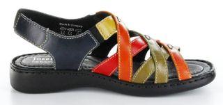 Josef Seibel Sandaletten multicolor Lederdeck Keil Leder Damen Schuhe Lisa 03 – Bild 6