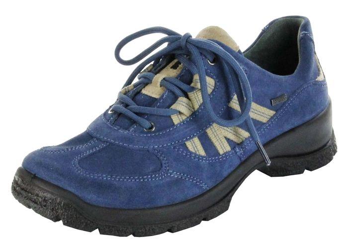 Legero Sportschuhe denium blau Leder GORE-TEX Damen Outdoor Schuhe 7-03541-84