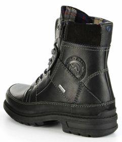 Marc Boots black Leder Stiefel GORE-TEX Gummisohle Herren Schuh Colt 1-206-09-07 – Bild 3