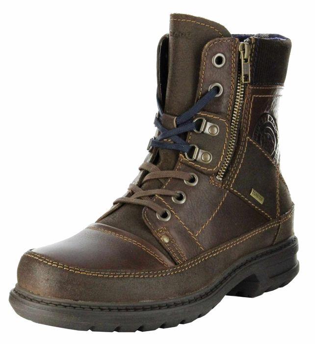 Marc Boots espresso Leder Stiefel GORE-TEX Gummis. Herren Schuh Colt 1-206-09-07