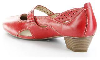Josef Seibel Halbschuhe rot Glattleder Lederdecksohle Damen Schuhe Tina 307 – Bild 5