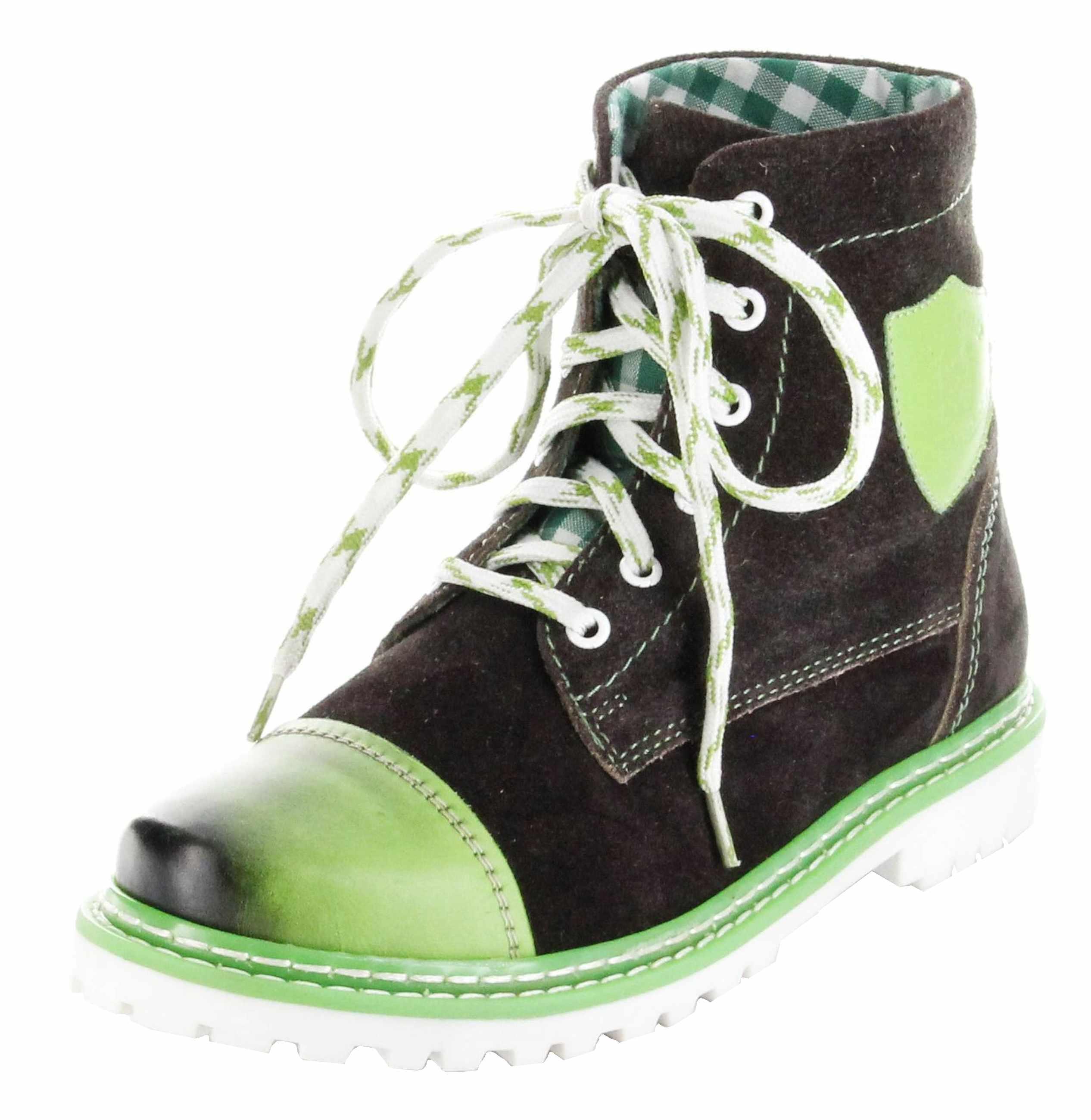 half off e244e acb00 Bergheimer Trachtenschuhe Stiefel grün Leder Stiefelette Damen Schuhe Aflenz