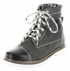 Bergheimer Trachtenschuhe Stiefel schwarz Leder Herren Damen Boots Schuhe Aflenz – Bild 1